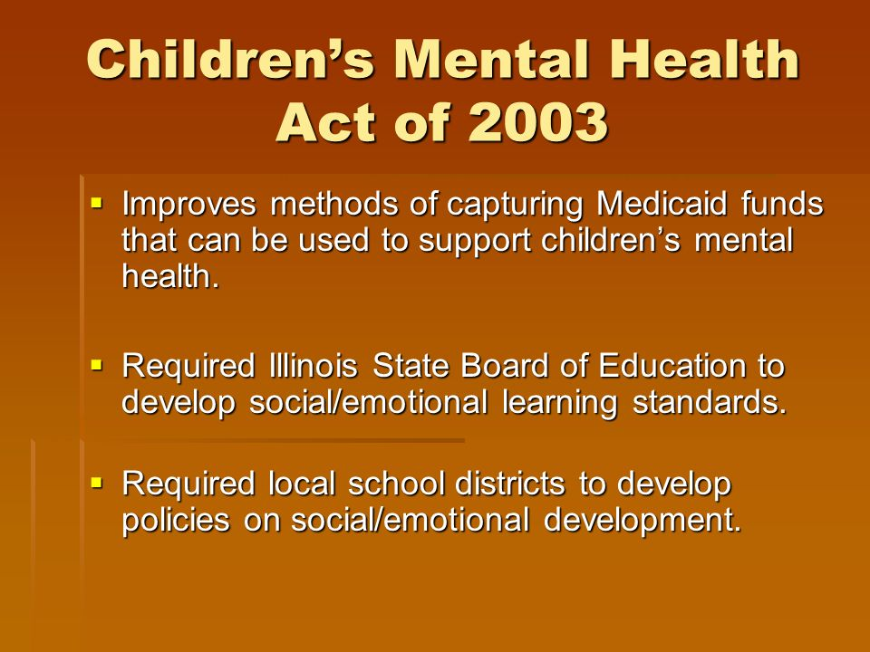 Children's Mental Health Act of 2003