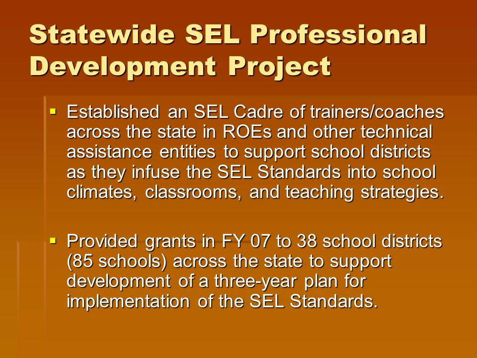Statewide SEL Professional Development Project