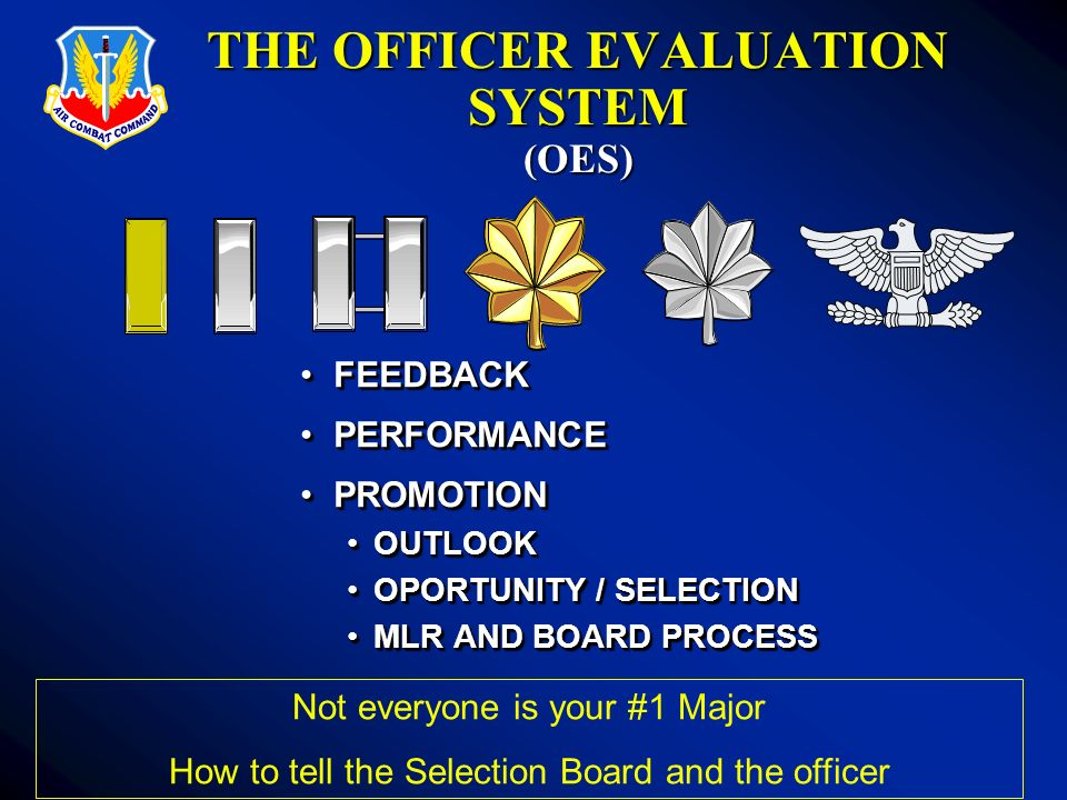 THE OFFICER EVALUATION SYSTEM (OES)