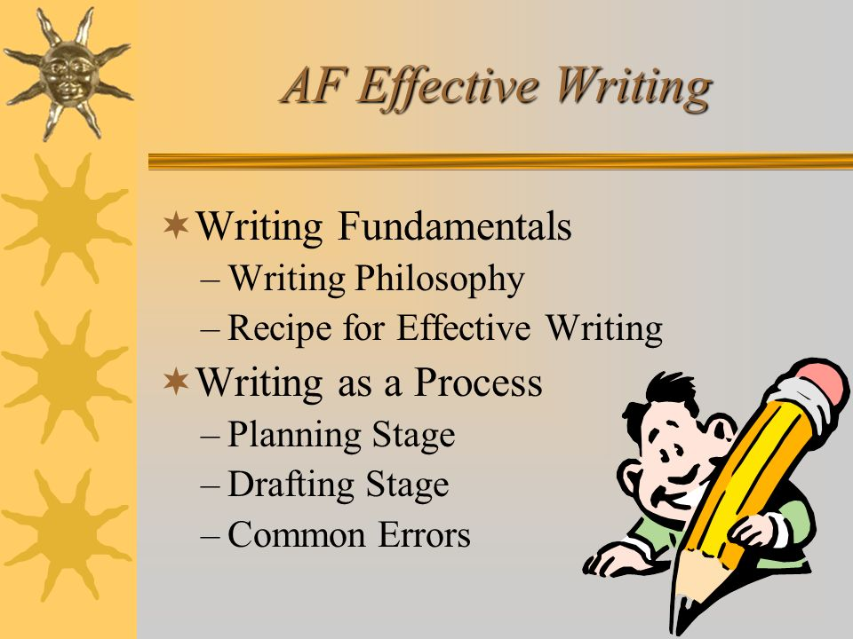 AF Effective Writing Writing Fundamentals Writing as a Process