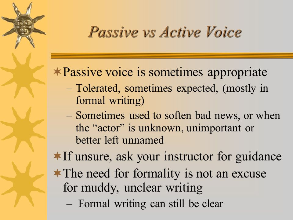 Passive vs Active Voice