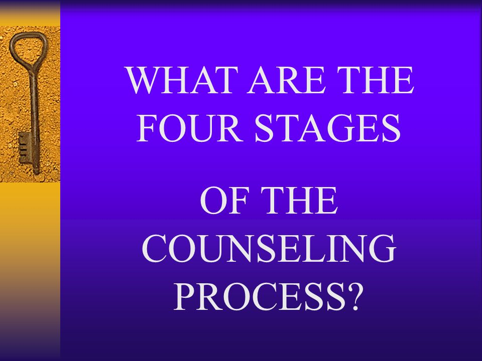 WHAT ARE THE FOUR STAGES OF THE COUNSELING PROCESS