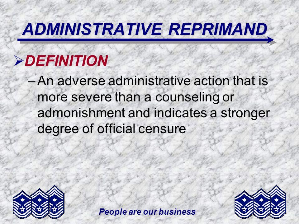 ADMINISTRATIVE REPRIMAND
