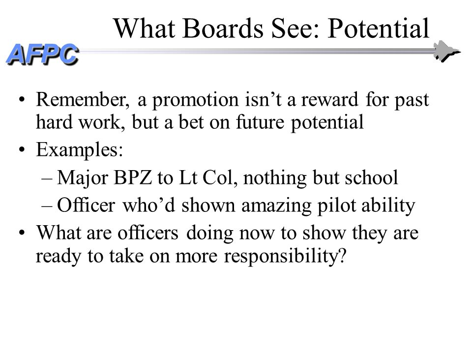What Boards See: Potential