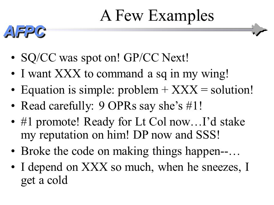 A Few Examples SQ/CC was spot on! GP/CC Next!