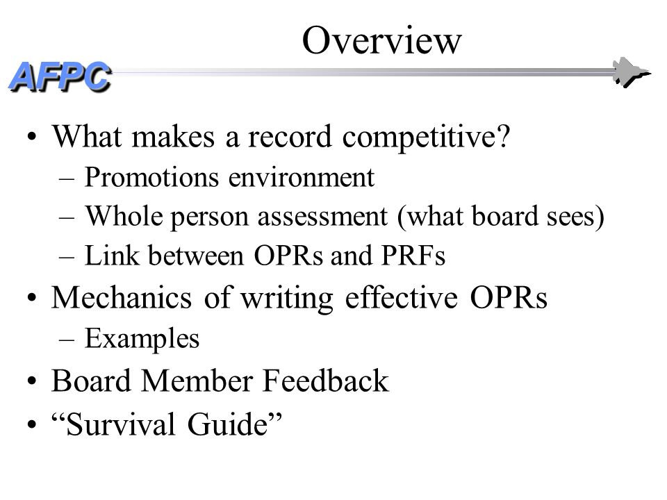 Overview What makes a record competitive