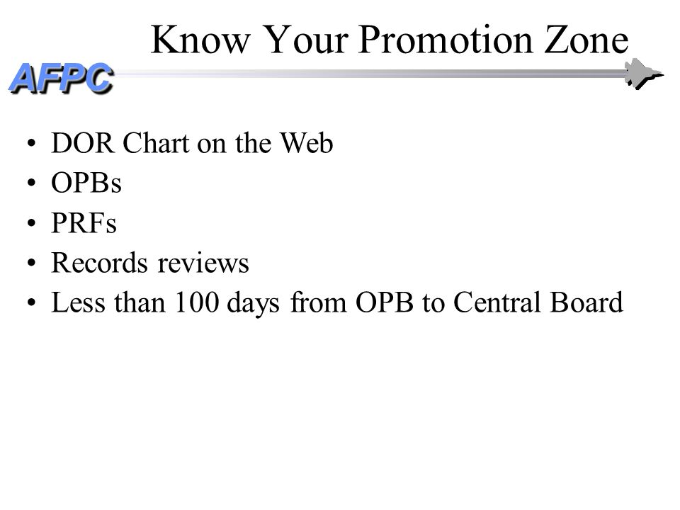 Know Your Promotion Zone