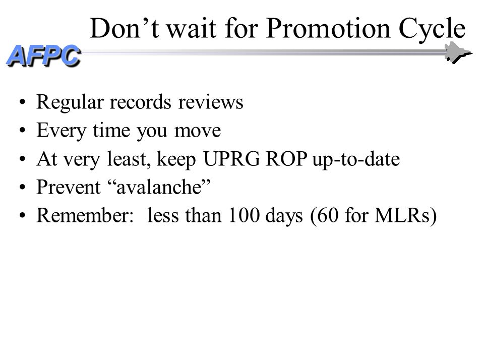 Don't wait for Promotion Cycle