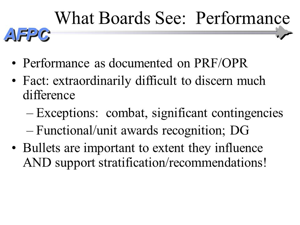 What Boards See: Performance