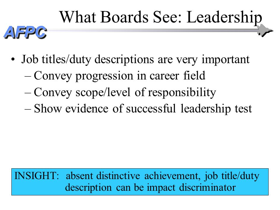 What Boards See: Leadership