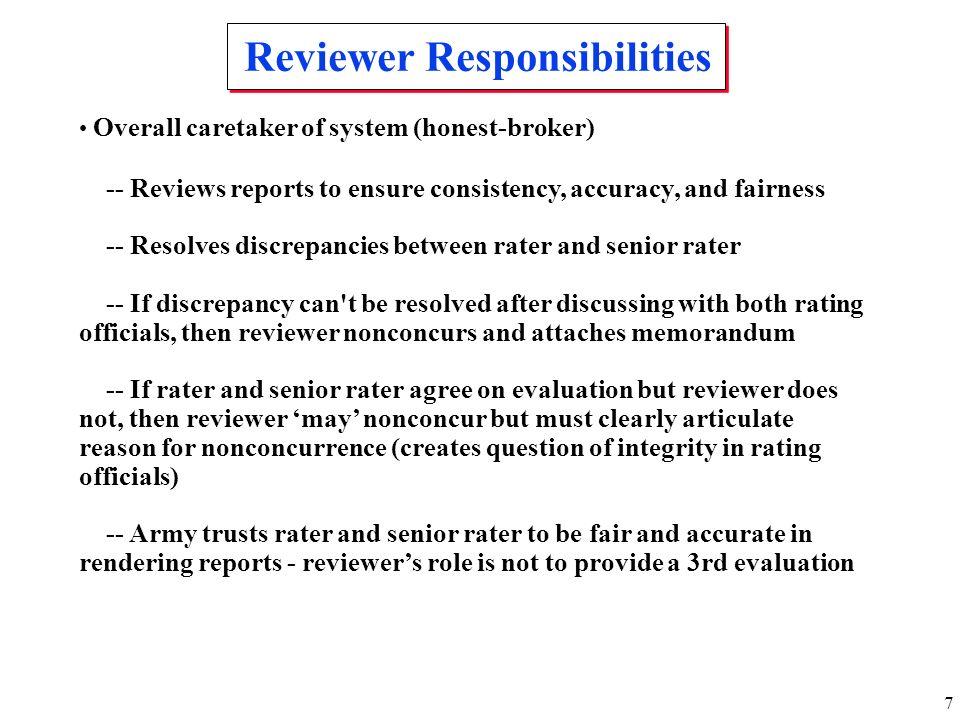 Reviewer Responsibilities