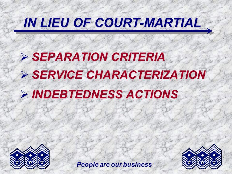IN LIEU OF COURT-MARTIAL