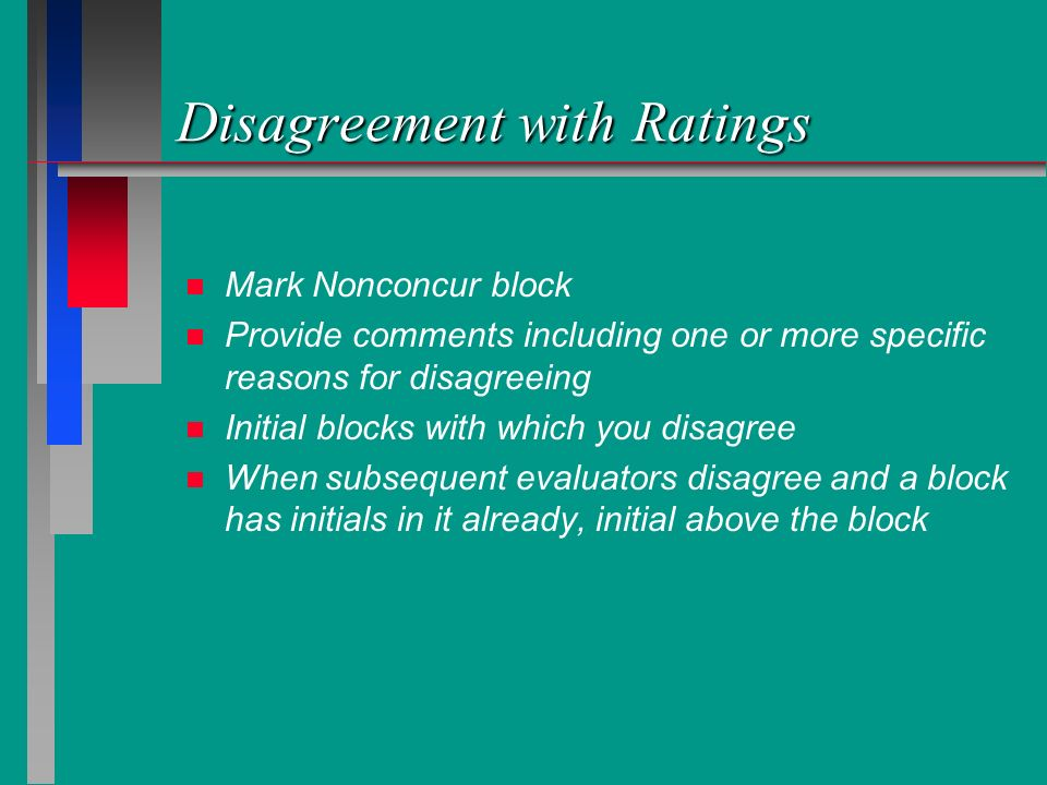 Disagreement with Ratings