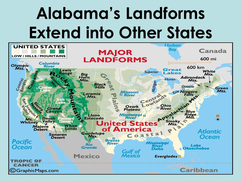 Chapter The Geography Of Alabama Ppt Video Online Download - Landforms of the united states