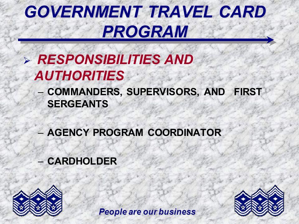 GOVERNMENT TRAVEL CARD PROGRAM