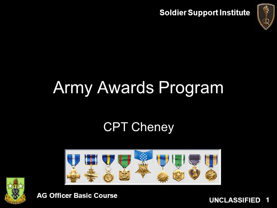 Army Awards Program CPT Cheney