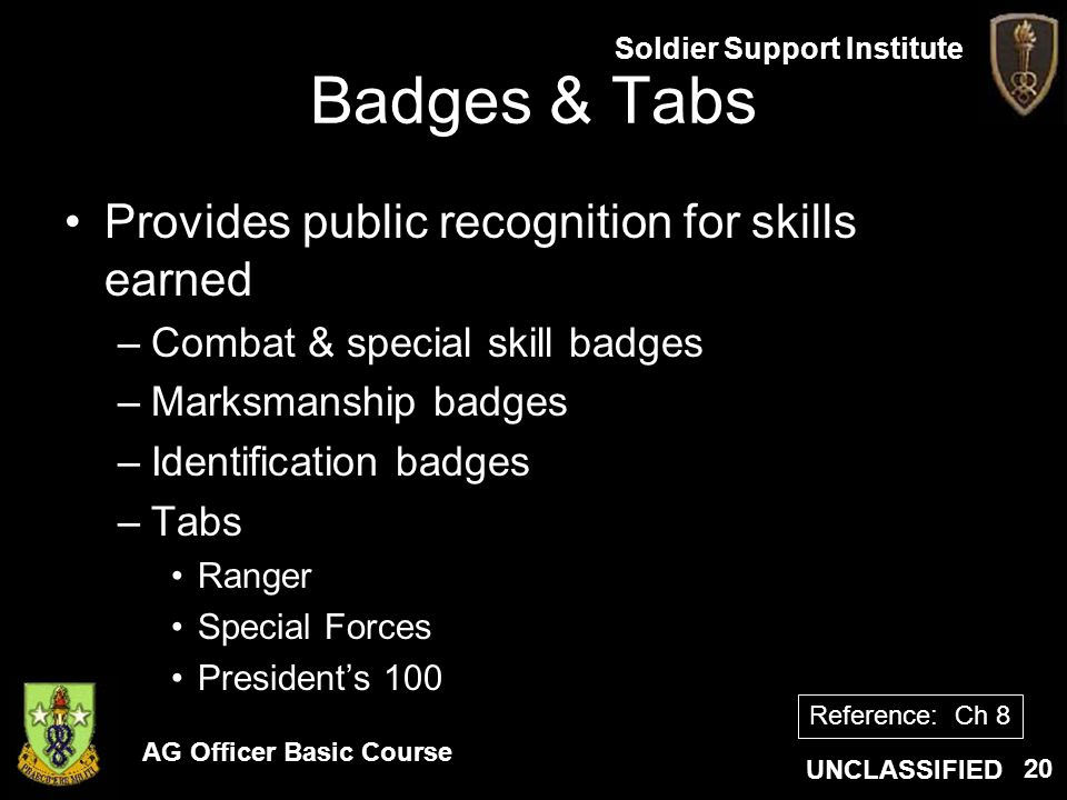 Badges & Tabs Provides public recognition for skills earned