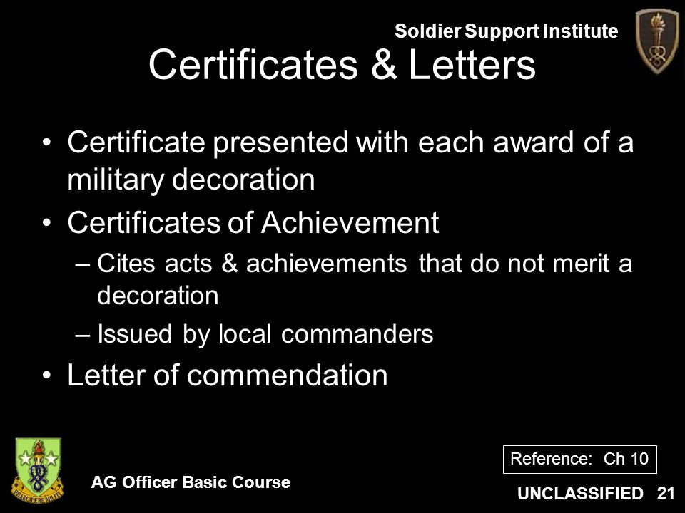 Certificates & Letters