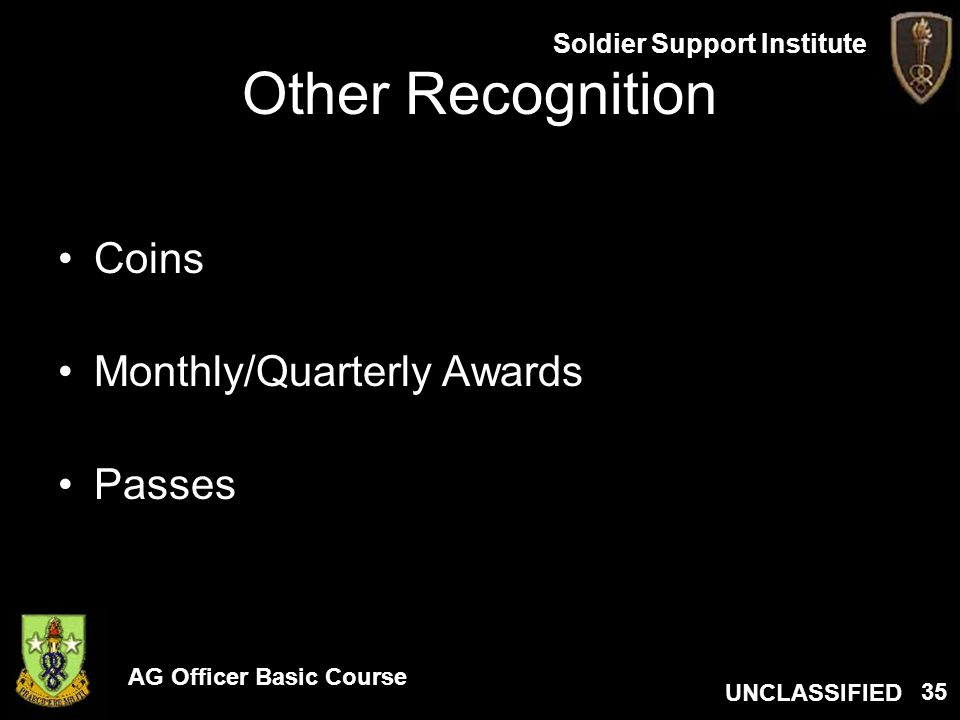 Other Recognition Coins Monthly/Quarterly Awards Passes