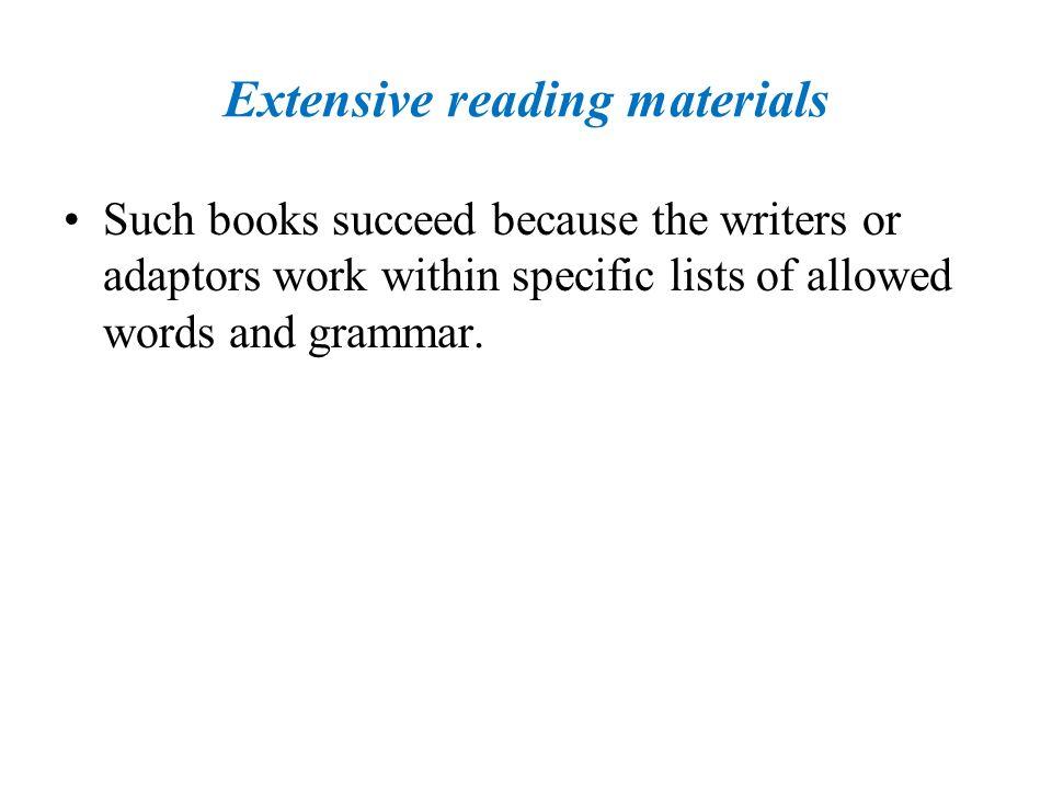 Extensive reading materials