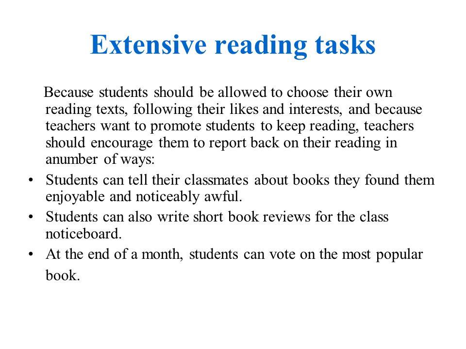 Extensive reading tasks