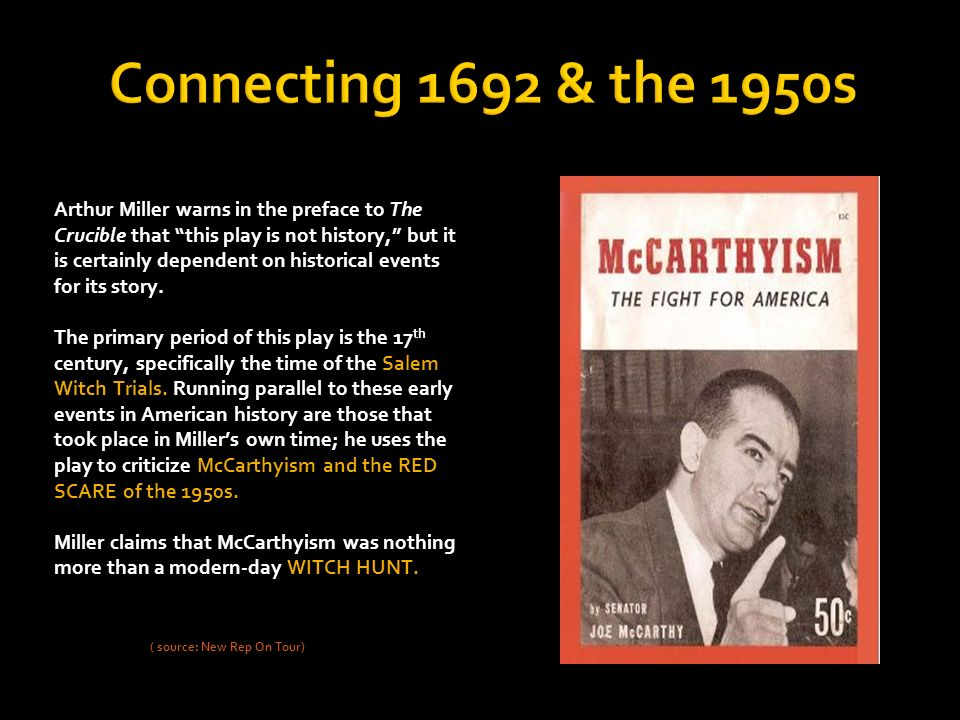 the salem witch trials and the mccarthy trials of the 1950 s Essay on the salem witch trials and mccarthyism in arthur miller the mccarthy era, the salem witch trials mccarthyism started in the early 1950's and it.