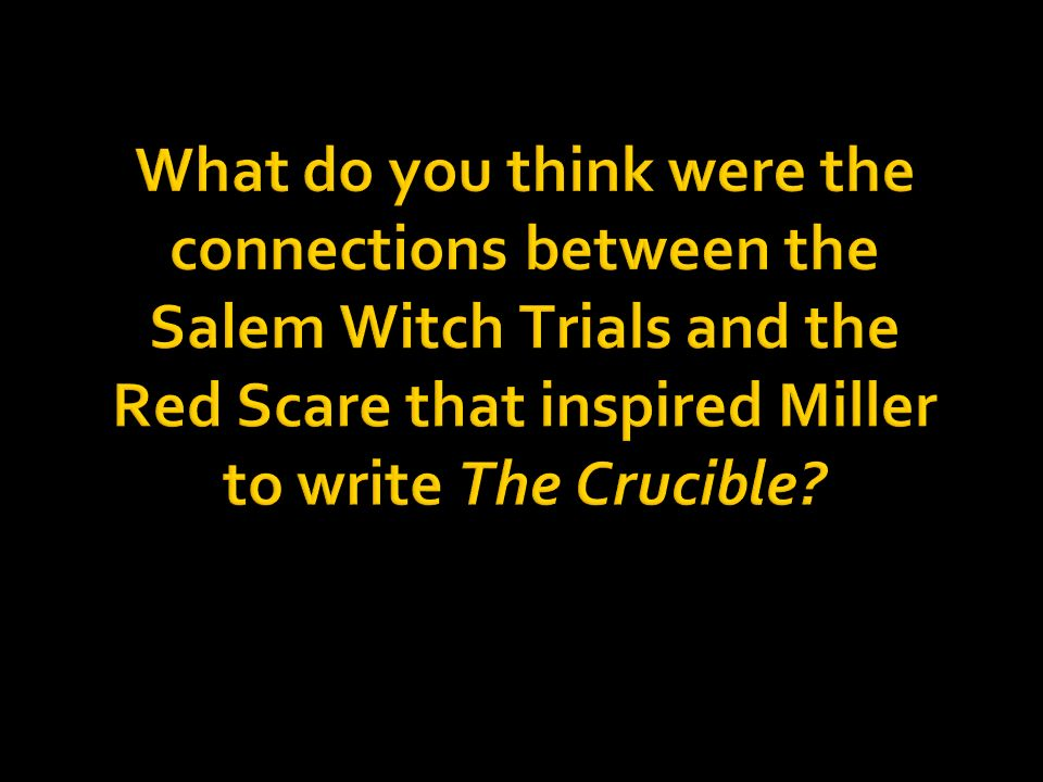 paranoia and injustice of the salem witch trials in the play the crucible by arthur miller The crucible, perhaps arthur miller's best known play, is – taken at face value – a story of persecution set during the salem witch trials.