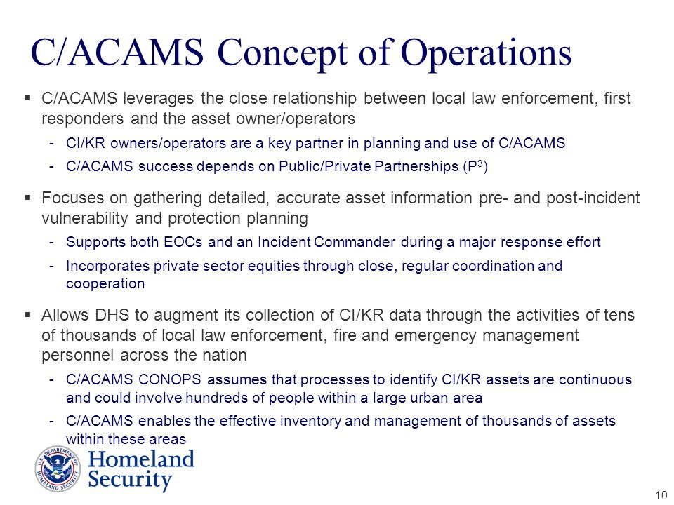 C/ACAMS Concept of Operations