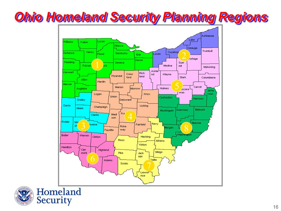 Ohio Homeland Security Planning Regions