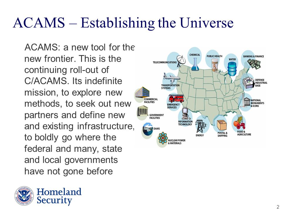 ACAMS – Establishing the Universe
