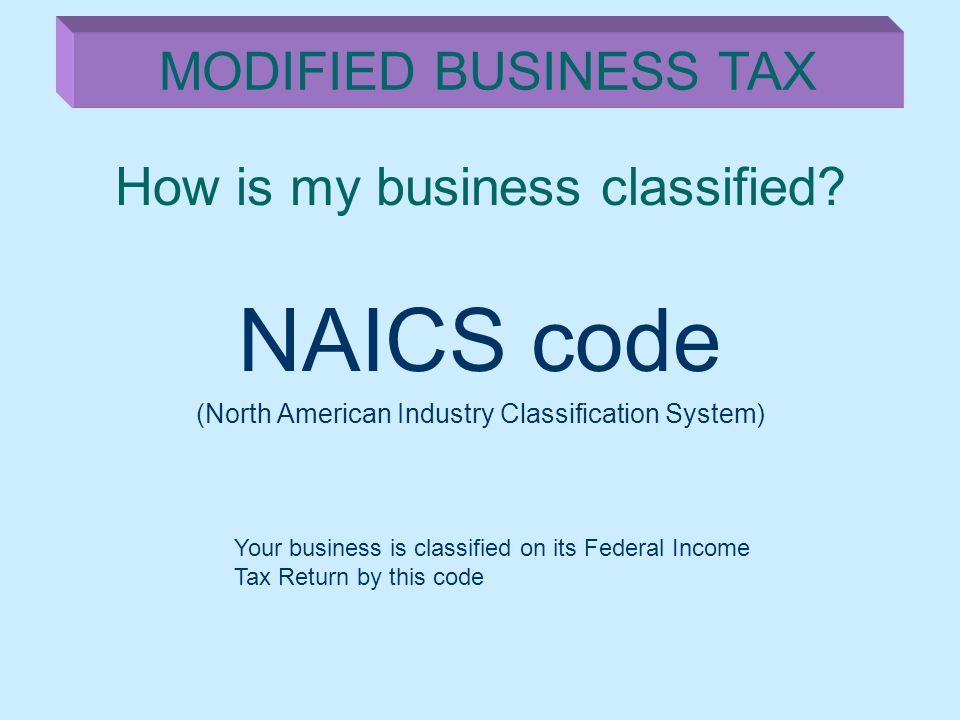 How is my business classified