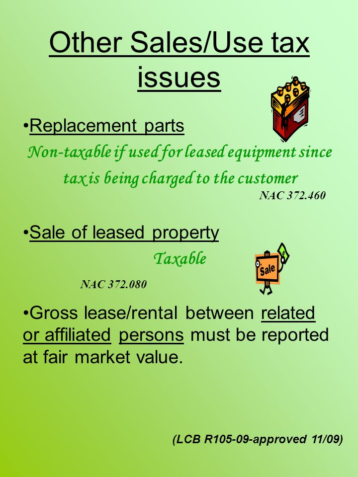 Other Sales/Use tax issues