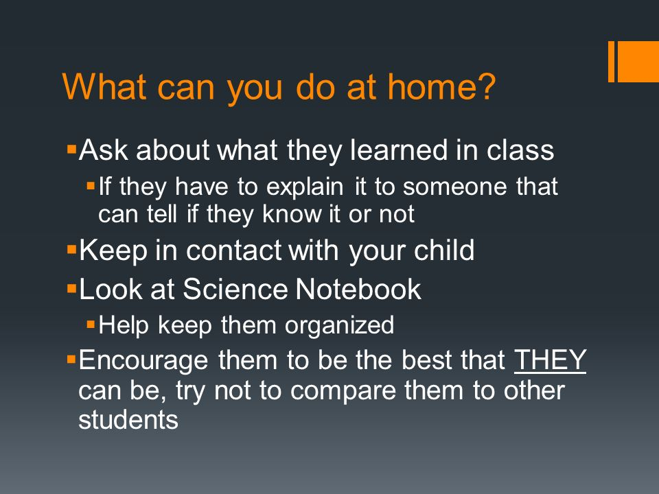 What can you do at home Ask about what they learned in class