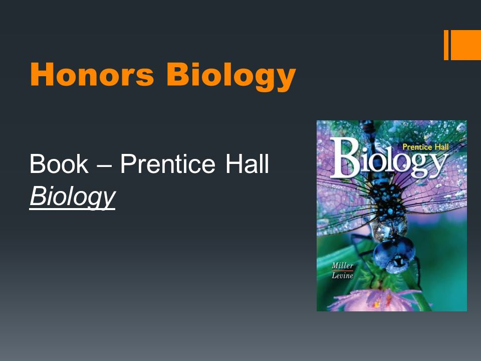 Book – Prentice Hall Biology