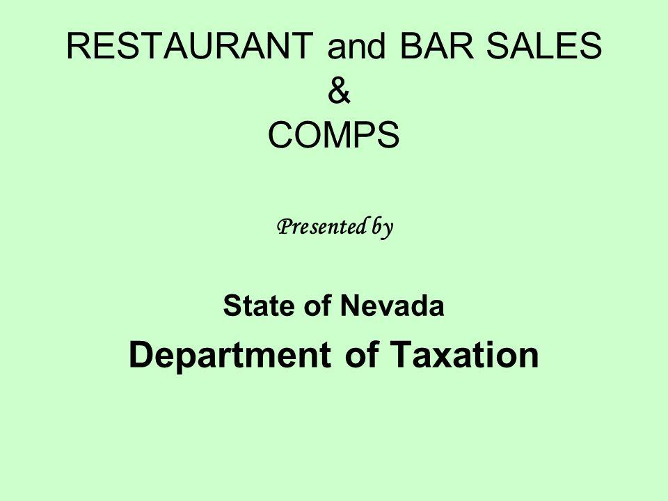 RESTAURANT and BAR SALES & COMPS