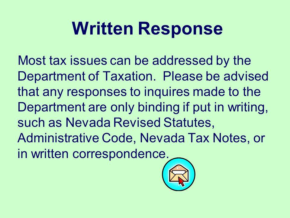 Written Response