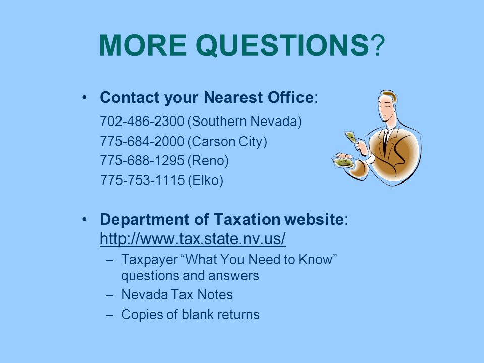 MORE QUESTIONS Contact your Nearest Office: