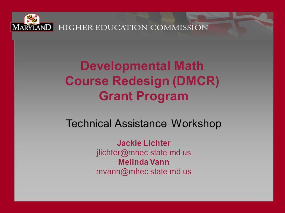 Course Redesign (DMCR)