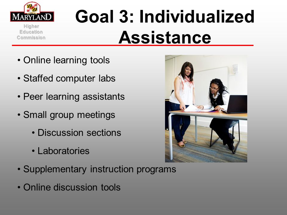 Goal 3: Individualized Assistance