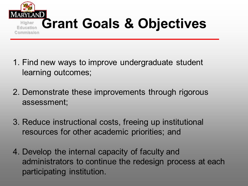 Grant Goals & Objectives
