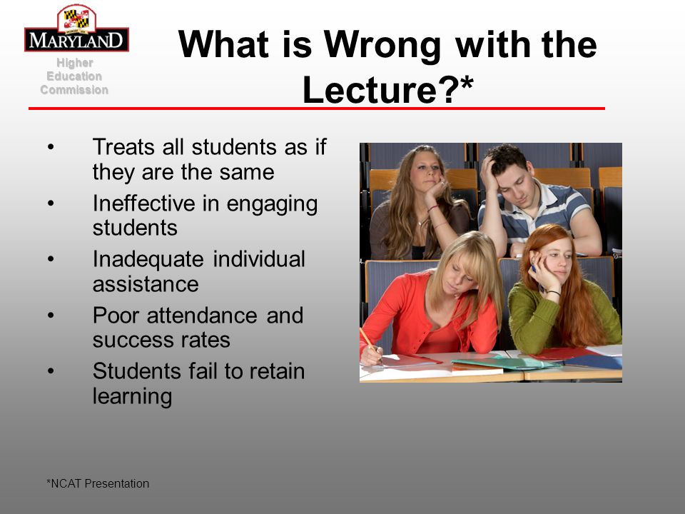 What is Wrong with the Lecture *