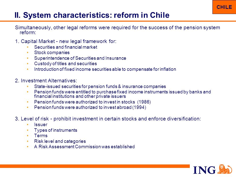 II. System characteristics: reform in Chile