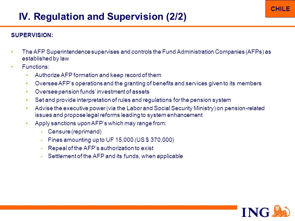 IV. Regulation and Supervision (2/2)
