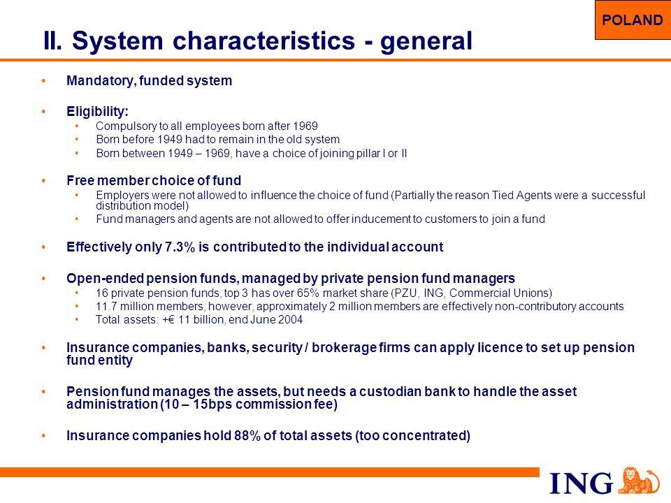 II. System characteristics - general