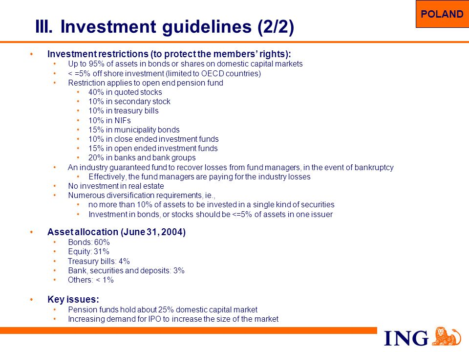 III. Investment guidelines (2/2)