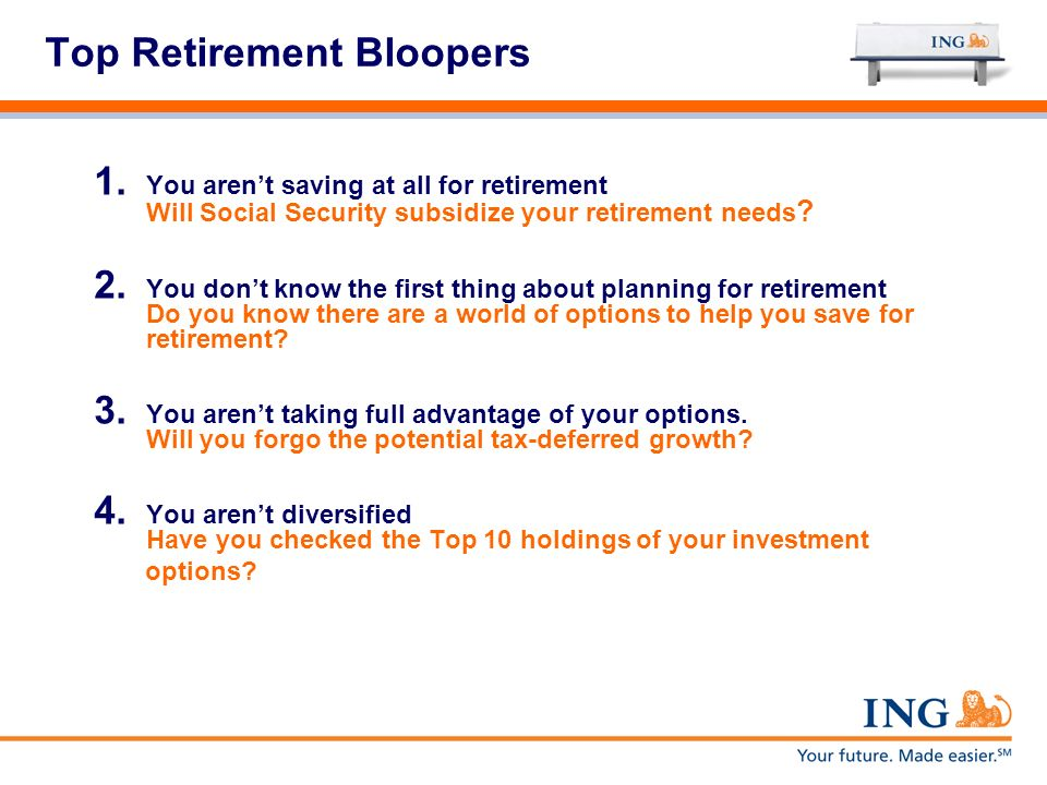 Top Retirement Bloopers