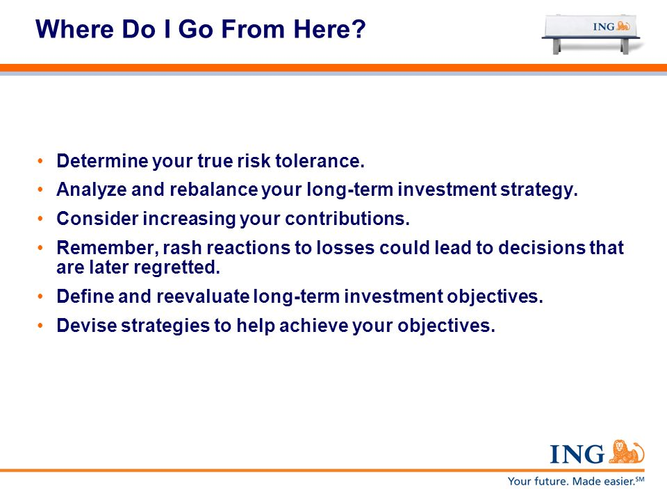 Where Do I Go From Here Determine your true risk tolerance.