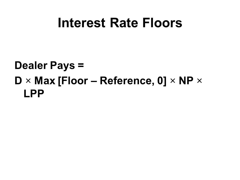 interest rate caps and floors Non standard interest rate caps and floors non standard interest rate caps and floors have been developed by marketers and financial engineers to respond to the need of tailor made products to.