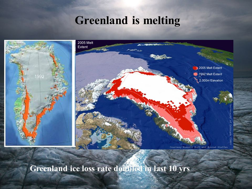 Greenland is melting Greenland ice loss rate doubled in last 10 yrs 5