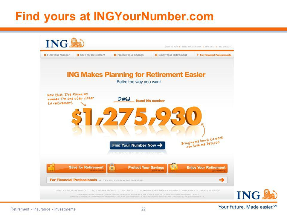 Find yours at INGYourNumber.com